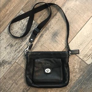 Authentic black coach cross body